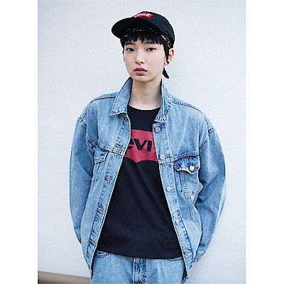 T恤 女裝 短袖純棉TEE 經典黑紅Logo - Levis