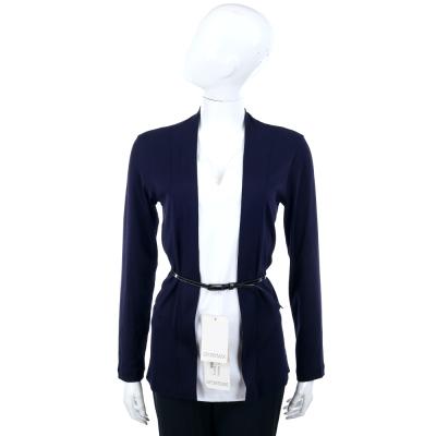 FABIANA FILIPPI 深藍色假兩件式拼接上衣