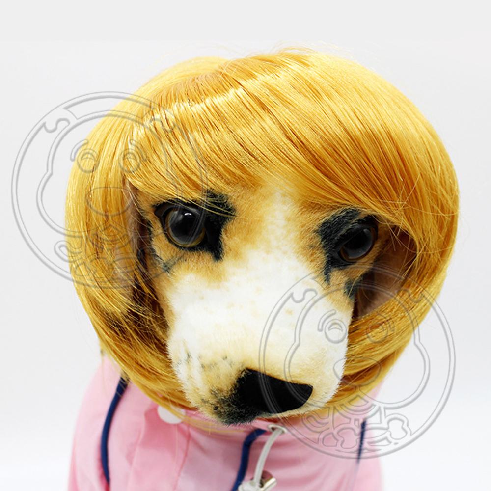 dyy》寵物假髮 狗狗搞笑頭飾飾品頭套