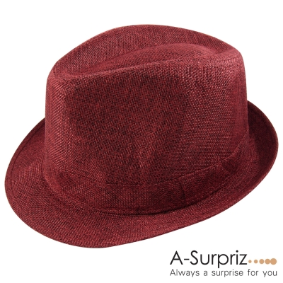 A-Surpriz 帥性雅痞風格紳士草帽(潮流紅)