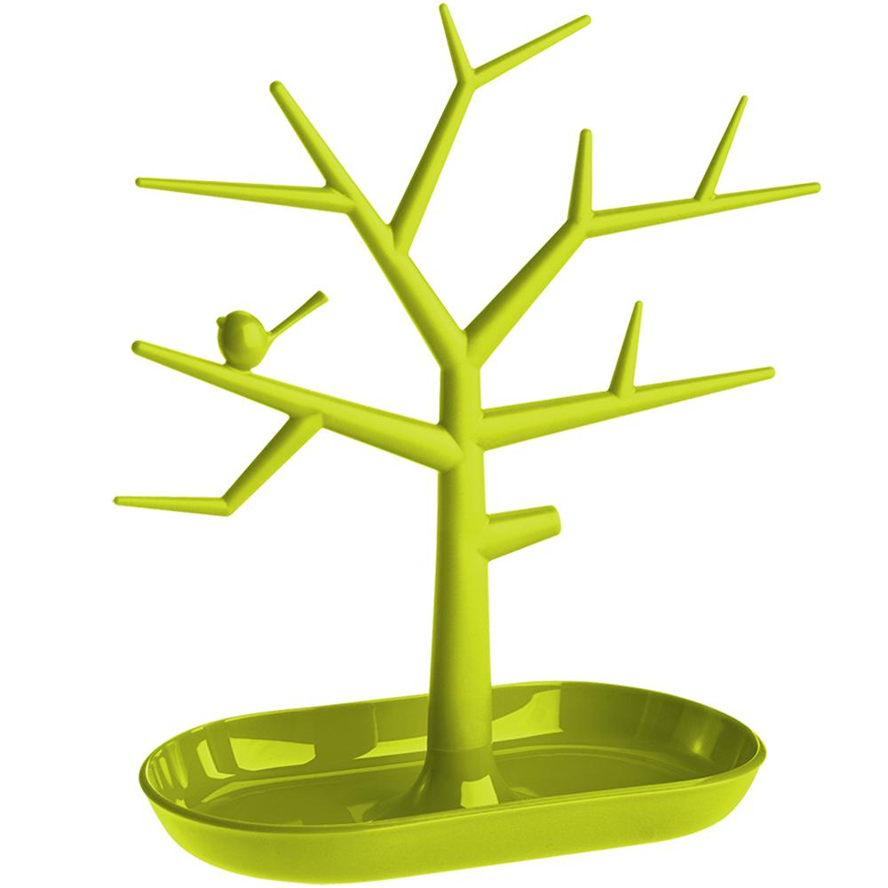 KOZIOL 樹梢鳥珠寶架(綠M)