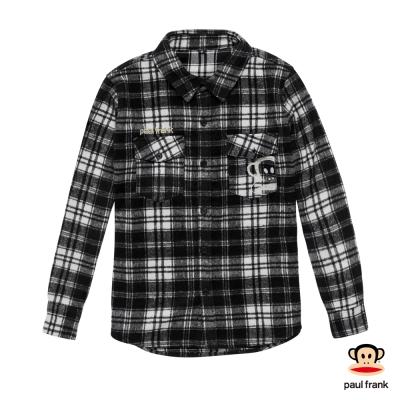 PAUL FRANK-格紋紳士風雙口袋設計襯衫-黑(男)