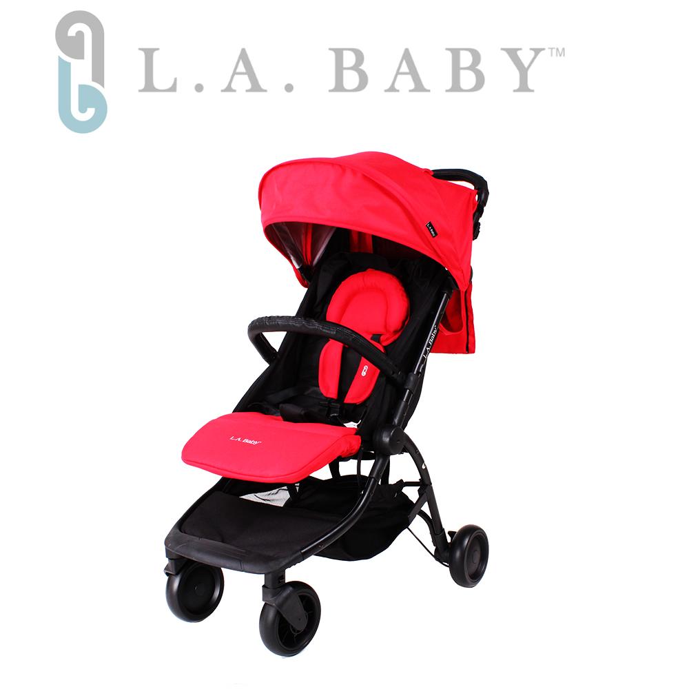 (L.A BABY 美國加州貝比)  旅行摺疊嬰兒手推車(紅色)