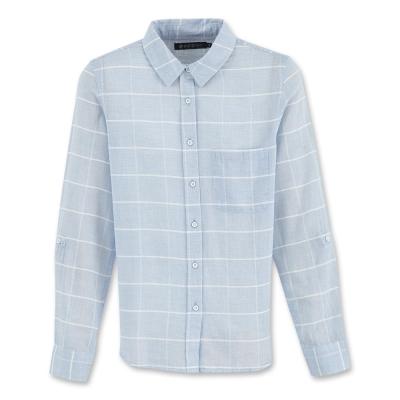 Hang Ten-女裝-都會時尚襯衫-藍