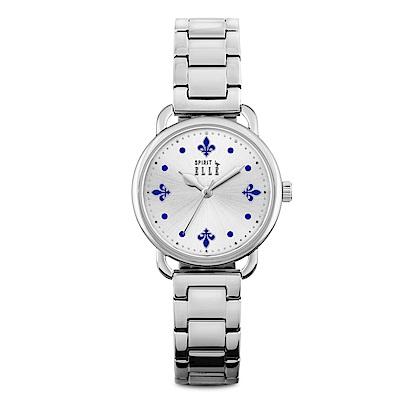 ELLE 皇家閨蜜系列不鏽鋼腕表-銀X藍/32mm