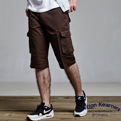DITION-美式多口袋中版過膝短褲-五分褲-單車OUTDOOR