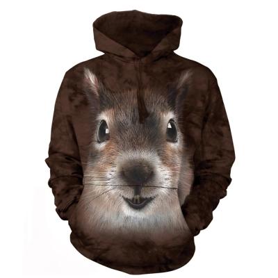 摩達客 美國進口The Mountain松鼠臉 長袖連帽T恤