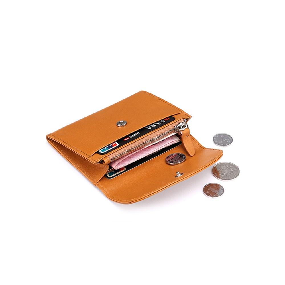 玩皮工坊-牛皮輕薄隨身卡片硬幣收納皮夾零錢包-LH481