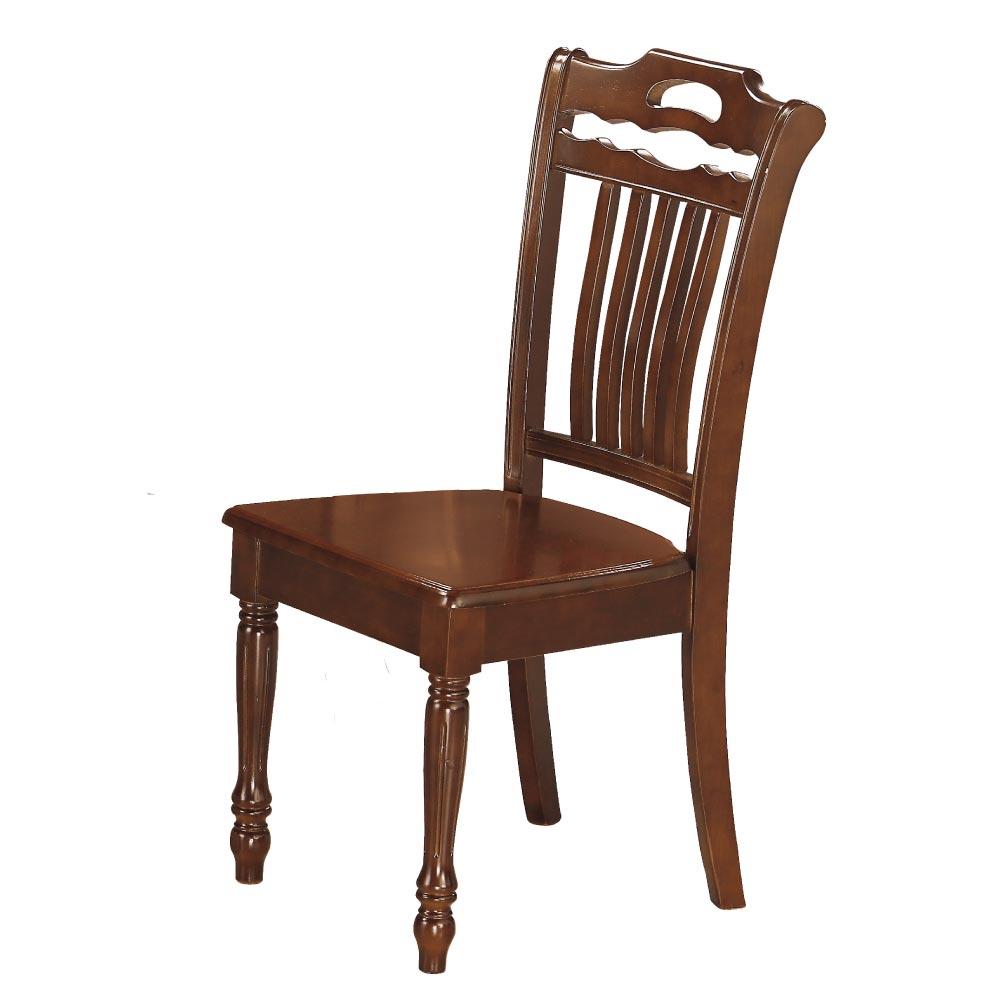 品家居 柔閒柚木色實木餐椅