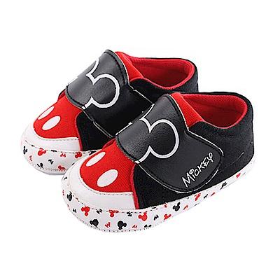迪士尼米奇強力止滑寶寶鞋 黑紅 sk0277 魔法Baby