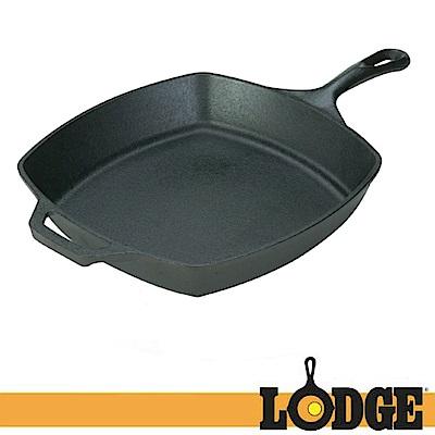 【Lodge】LOGIC SKILLET 10.5吋 鑄鐵方形平底鍋.煎盤烤盤