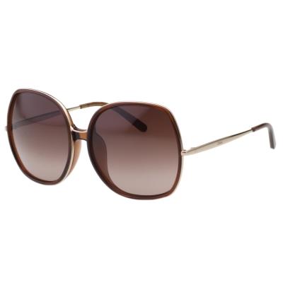 CHLOE 個性方框 太陽眼鏡 -透明咖啡CE729SA