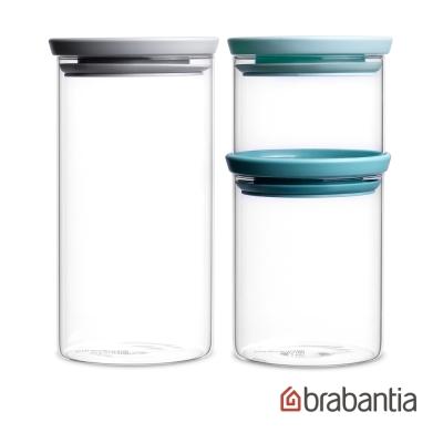 Brabantia 玻璃食物儲存罐3入(0.3L/0.6L/1.1L)