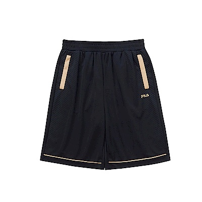 FILA KIDS 男童吸濕排汗短褲-黑 1SHS-4332-BK