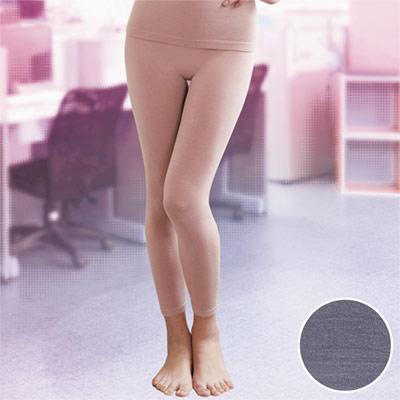 華歌爾-MODAL一枚兩役M-L保暖隨型長褲(花紗灰)