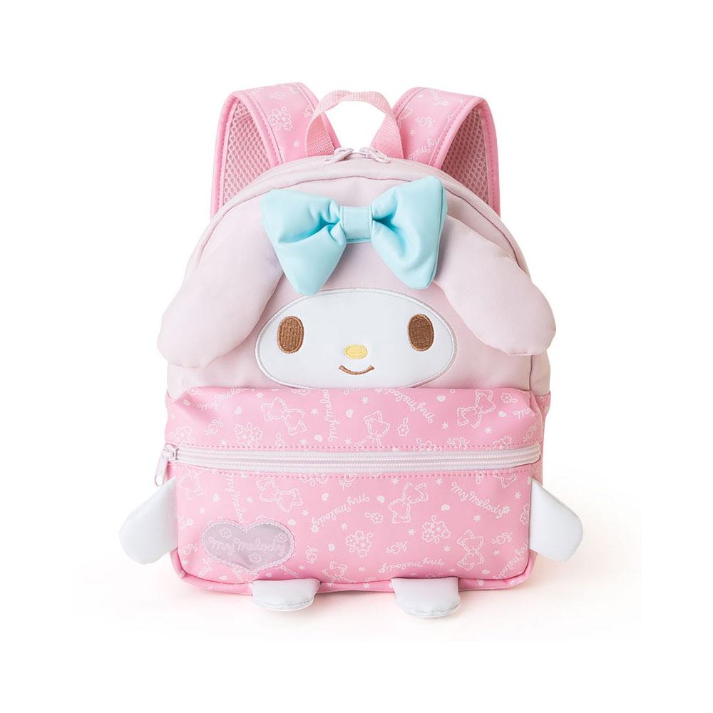 Sanrio 美樂蒂女童用大臉造型後背包(藍蝴蝶結)