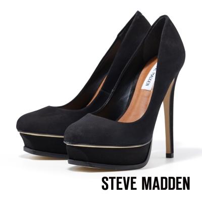 STEVE-MADDEN-厚底圓頭高跟鞋-性感黑