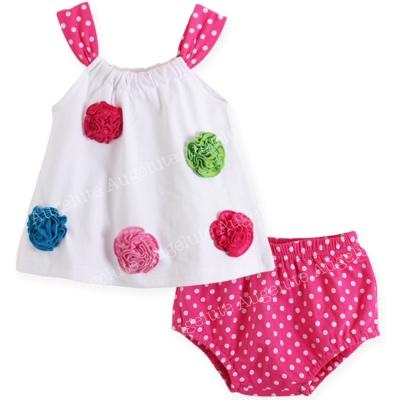 baby童衣 女寶寶無袖上衣裙加小褲套裝 32025