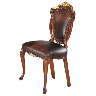 AT HOME-奧爵法式胡桃金邊餐椅