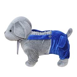 Yvonne Collection吊帶狗衣服-深藍L
