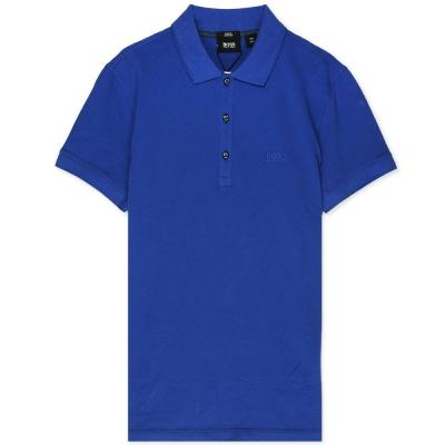 HUGO BOSS 黑標素面POLO男衫(寶藍)