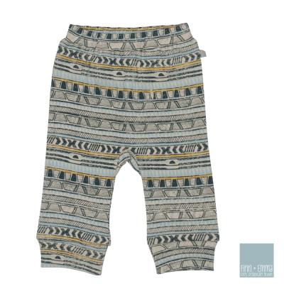 美國 FINN & EMMA 有機棉長褲 (部落條紋)