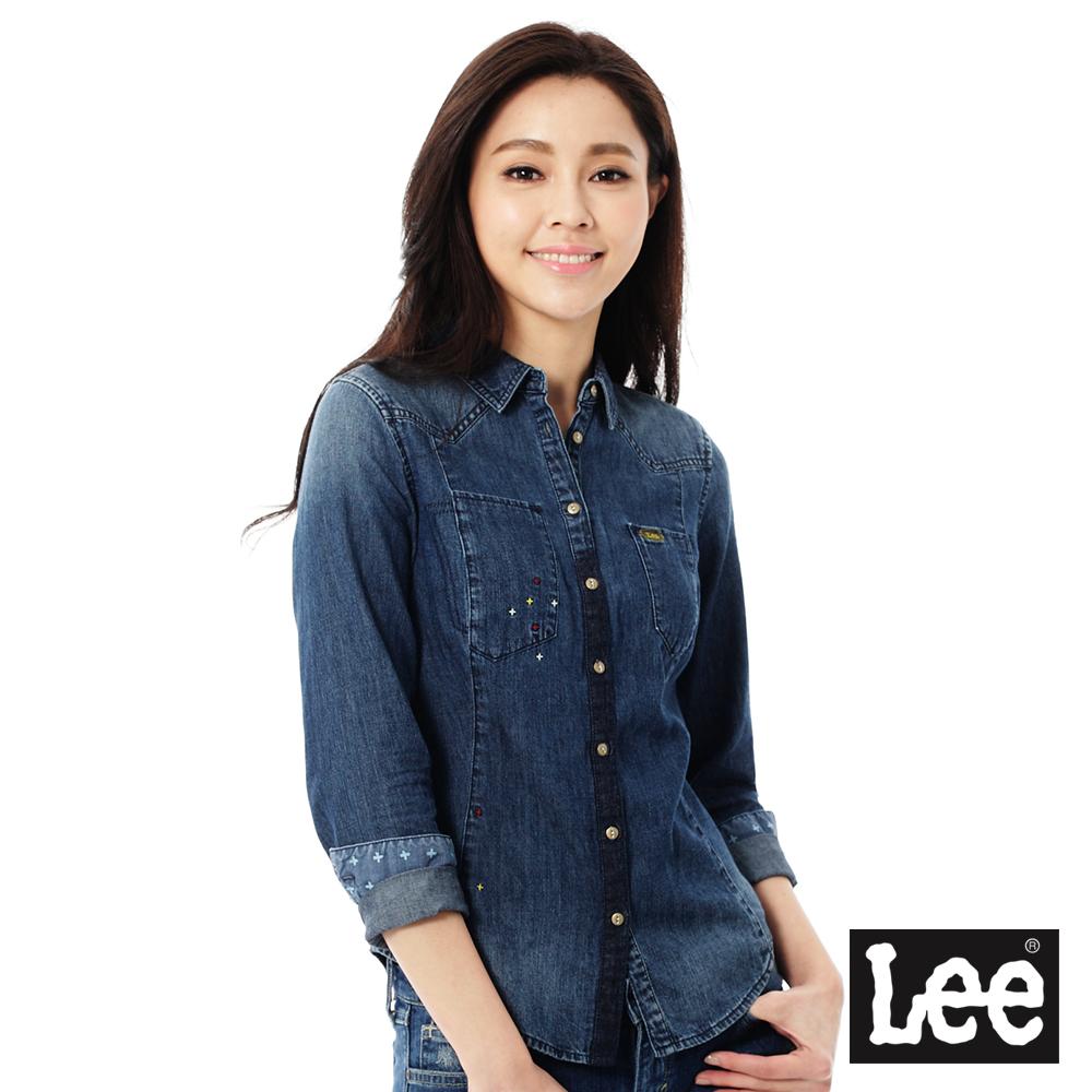 Lee 牛仔長衫襯衫/101+女款