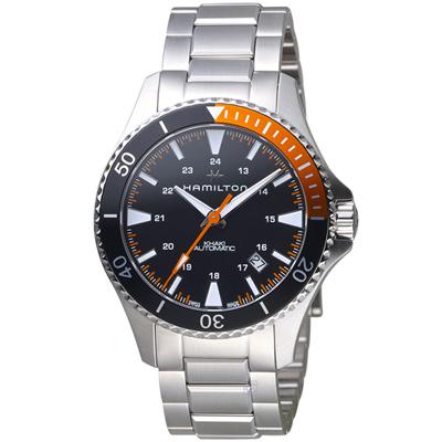 Hamilton KHAKI NAVY 卡其海軍系列潛水腕錶-黑x橘/40mm