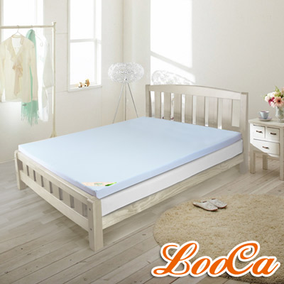 LooCa吸濕排汗 2 . 5 cm天然乳膠床墊-雙人 5 尺