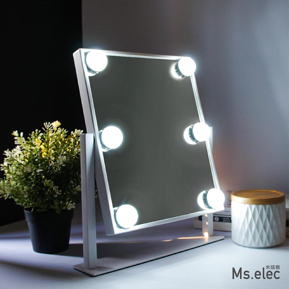 Ms.elec米嬉樂 好萊塢燈泡化妝鏡 桌鏡 燈泡鏡