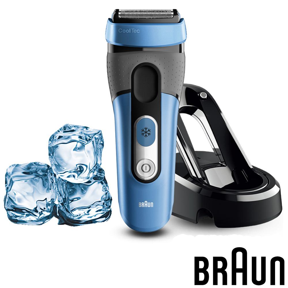 (福利品)德國百靈BRAUN-°CoolTec系列冰感科技電鬍刀(CT4s)