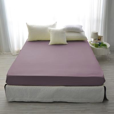 IN-HOUSE-精梳棉-加大素色床包-水晶紫