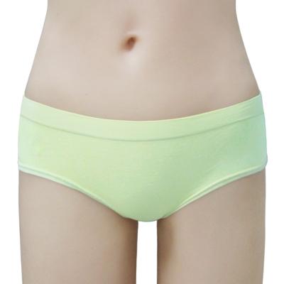 瑪登瑪朵-2014SS低腰寬邊三角無縫褲(粉蠟綠)