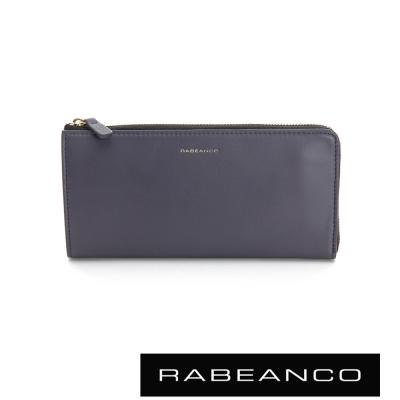 RABEANCO 迷時尚系列多格層拉鍊長夾 -  暗灰