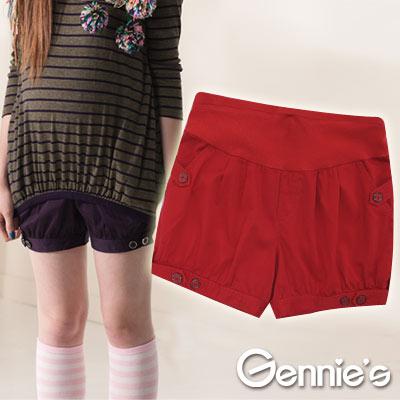 【Gennie's】可愛童趣百搭棉質孕婦短褲(G4404)