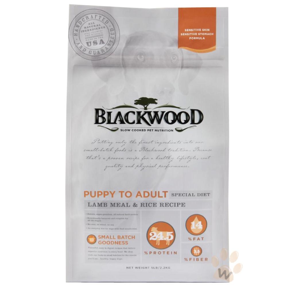 柏萊富blackwood 功能性全齡犬 護膚亮毛配方(羊肉+糙米)15磅