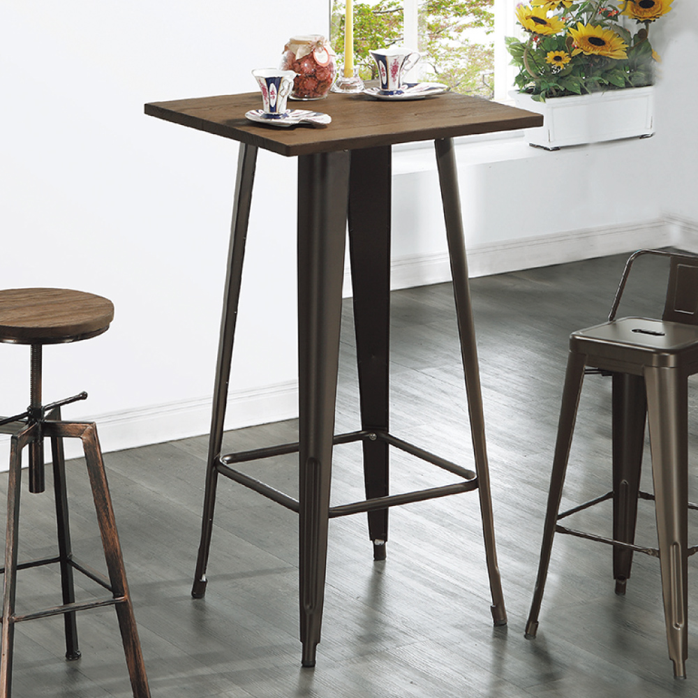 AS-海曼實木面吧檯桌-60x60x107cm