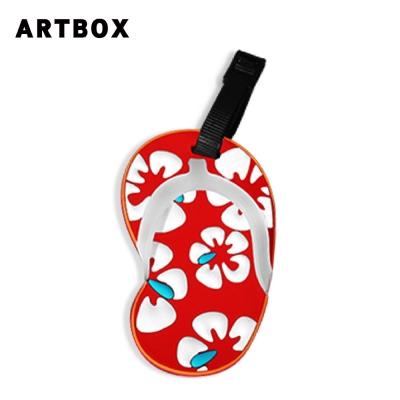 ARTBOX- 拖鞋造型行李吊牌(花朵系列-扶桑花)