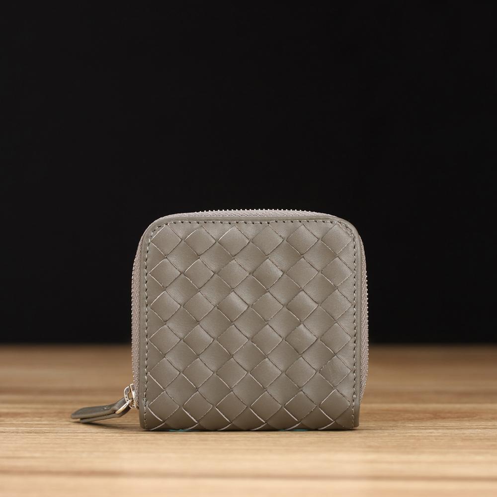 STORY 皮套王 - 牛皮編織紋零錢包 Style 90824