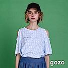 gozo Im Not Going Anywhere挖肩格紋上衣(二色)