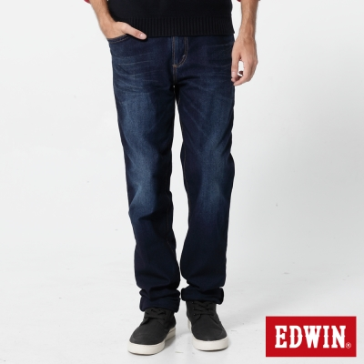 EDWIN AB褲 JERSEYS紅腰頭迦績褲-男-原藍磨