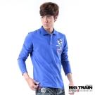 BIG TRAIN 扇鯉墨達人POLO衫-男-藍