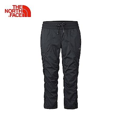 The North Face北面女款黑色防潑水戶外衝鋒褲