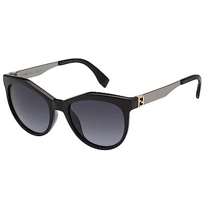FENDI 時尚太陽眼鏡 (黑色)FF0049S