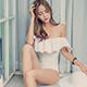 泳衣 浪漫假期 素色鋼圈一件式連身泳裝(白M~XL) AngelHoney天使霓裳 product thumbnail 1