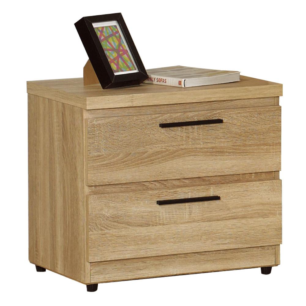 居家生活 爾康橡木紋床頭櫃