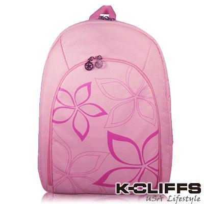 美國K-CLIFFS 浪漫海星花單肩電腦包(14吋) 粉紅