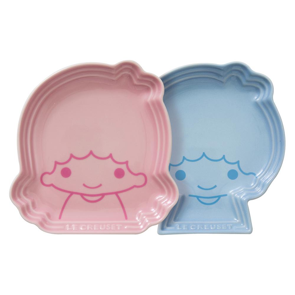 LE CREUSETx LittleTwinStars瓷器造型盤2入