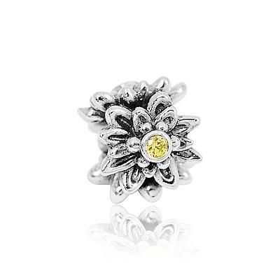 Pandora 潘朵拉 魅力鑲鋯小白花 純銀墜飾 串珠