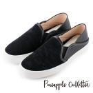 Pineapple Outfitter 美式休閒  街頭潮流虎斑布真皮懶人鞋-黑色